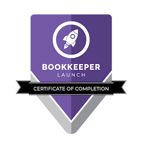 Bookkeeper Launch badge